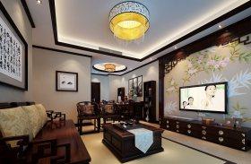 古典新中式风格客厅吊顶美图
