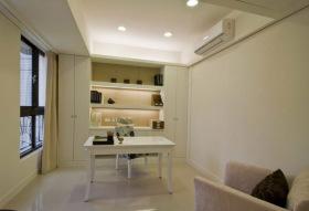 白色现代大气风格书房设计图片