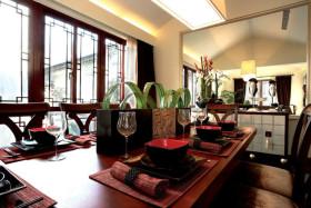 红色中式2016新古典餐厅图片欣赏