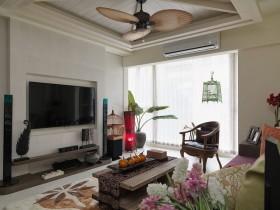 东南亚黄色客厅吊顶设计图片