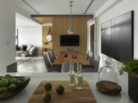 现代风格灰色餐厅吊顶效果图设计