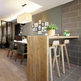 素雅清新新古典风格餐厅吧台设计