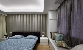 简约风格灰色卧室飘窗装修图