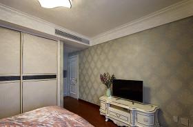 米色混搭风格卧室衣柜设计装潢