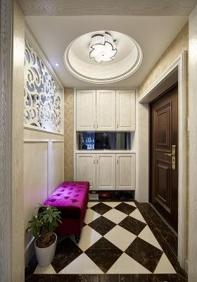 精致欧式风格米色鞋柜装饰设计图片