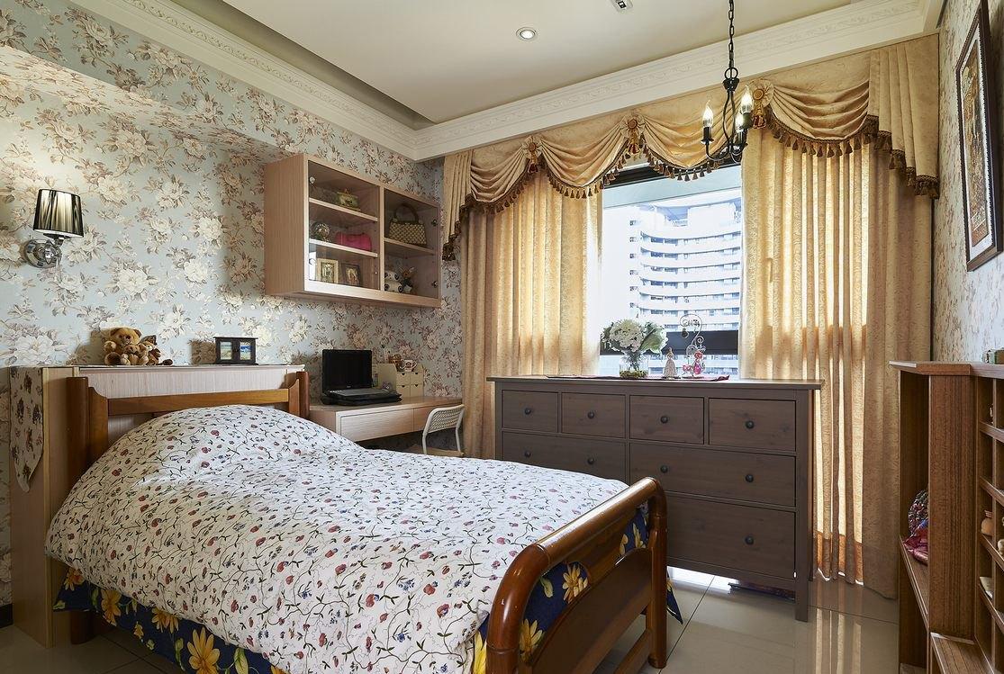 欧式浪漫碎花风格卧室装潢欣赏
