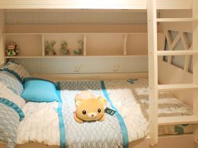 田园风格蓝色儿童房装潢案例