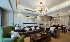 华美美式风格客厅吊顶美图欣赏