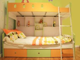 创意童趣简约风格黄色儿童房装饰图