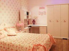 粉嫩唯美简约儿童房衣柜装修效果图片