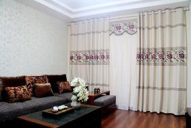 东南亚风格灰色客厅装潢案例
