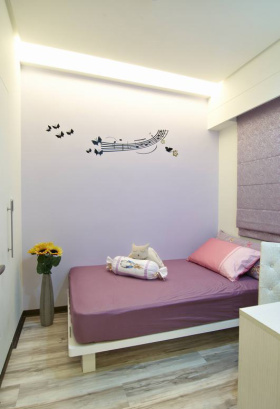 紫色清新简约风儿童房装修案例
