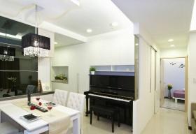 简欧时尚风格白色餐厅吊顶设计