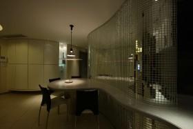现代摩登简约灰色餐厅装修效果图