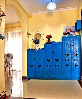 地中海风格蓝色鞋柜装修效果图