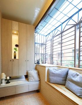简约风格淡雅原木飘窗设计
