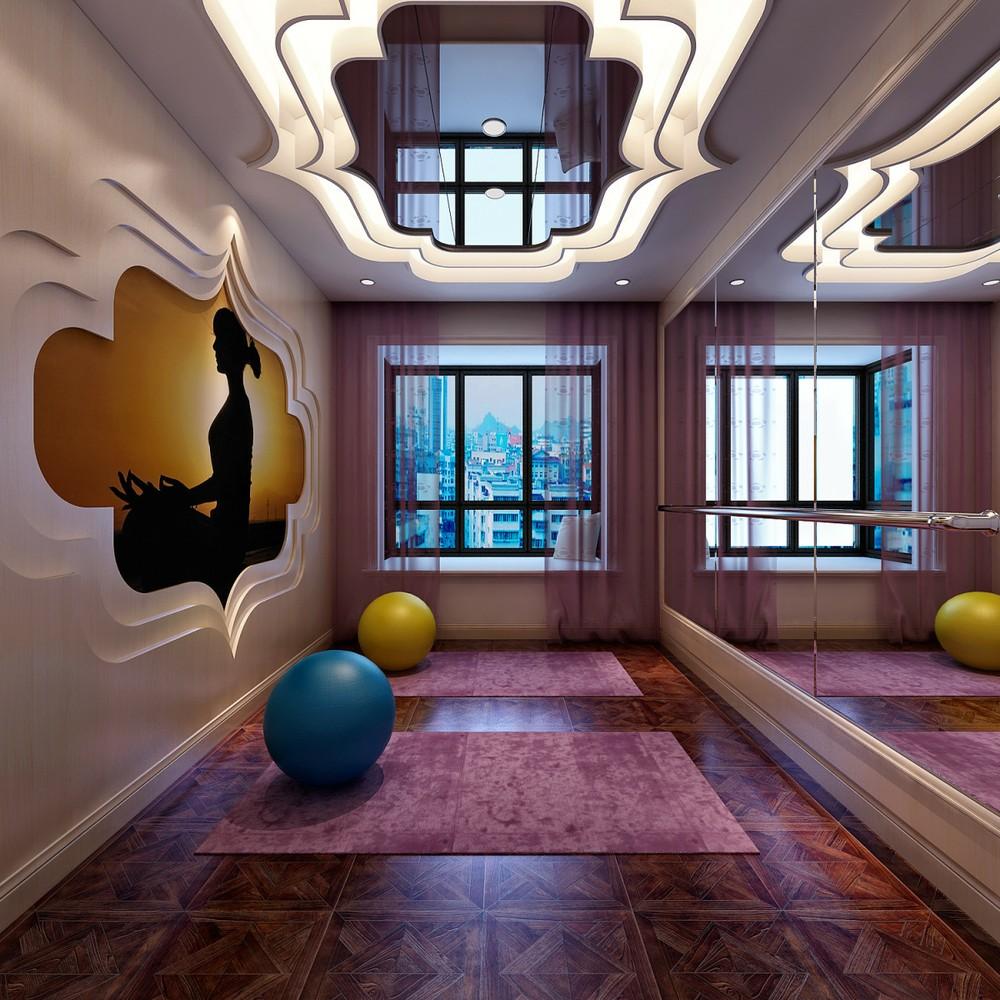 个性欧式风格休闲瑜伽房装饰图