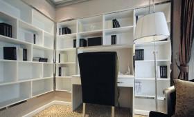 北欧式风格灰色书房效果图