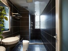 2016质感黑色简约风格卫生间装修布置