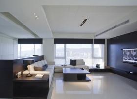 简约灰色客厅吊顶设计装潢