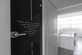 2016简约风格黑色书房橱柜装修图