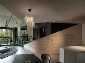 现代摩登客厅吊顶装潢设计