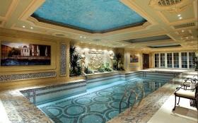 奢华美式风格室内泳池装饰图欣赏