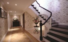 田园风格楼梯过道装修设计图