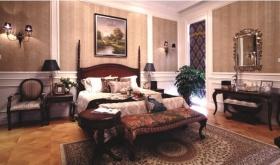 红色中式风格卧室装修图片赏析