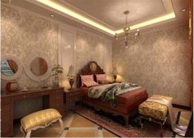 欧式橙色卧室布置欣赏