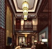 红色中式古典雅致大气奢华客厅装潢
