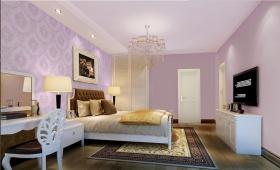 温馨紫色欧式风格卧室装饰欣赏