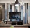 灰色现代风格客厅背景墙装修案例