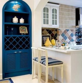 地中海风格蓝色收纳柜装饰案例