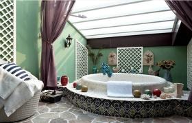 绿色东南亚卫生间设计装潢