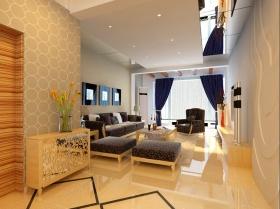 简约风格橙色客厅装修效果图