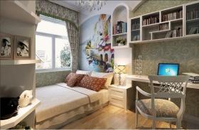 灰色欧式风格儿童房效果图