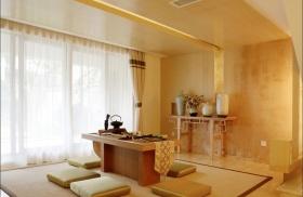 中式风格素雅橙色榻榻米装饰设计