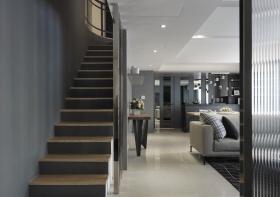 灰色质感简约风格楼梯装潢设计