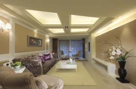 简洁新古典风格客厅吊顶装修图片欣赏