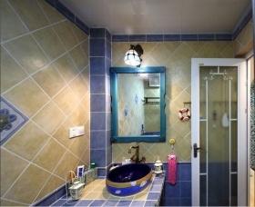 浪漫温馨海边时尚欧式卫生间装潢设计