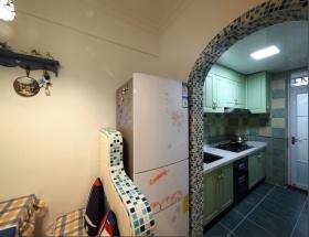 地中海风格创意马赛克厨房蓝色装修