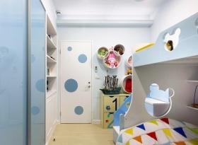 宜家风格清新蓝色儿童房效果图设计