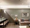 灰色现代风格客厅背景墙美图欣赏