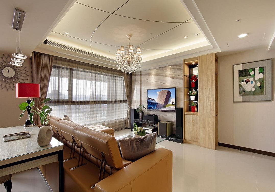 雅致欧式风格客厅吊顶装修布置
