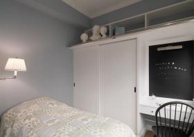 美式风格灰色卧室衣柜美图欣赏