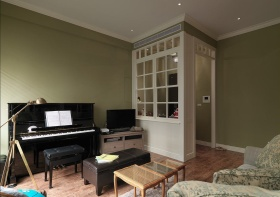 欧式风格温馨书房琴房装饰设计图片