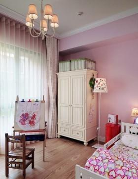 田园风格粉色儿童房衣柜效果图赏析