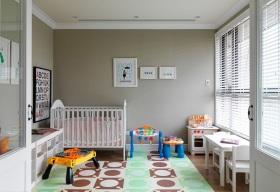 宜家风格清新灰色儿童房美图欣赏