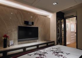 新古典风格素雅米色背景墙装潢设计